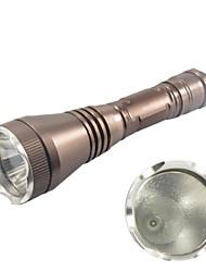 Hunterseyes ™ S153-2-14-1 3-Modo de Cree XP-E R2 LED Lanterna com Clip (250ml, 1x18650) Brown