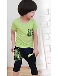 Boy's Cotton Blend Clothing Set , Summer Short Sleeve