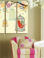Stretched Canvas Art Animal Like A Bird Singing Set of 3