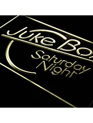 I328 Juke Box Saturday Night Bar Pub Neon Light Enregistrez-vous