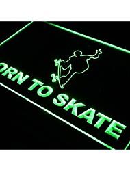 nato a pattinare negozio di skateboard luce al neon segno