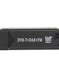 Mini DVB-T Digital-TV-Receiver-USB-Dongle mit FM / Remote Control / Antenne (Schwarz)