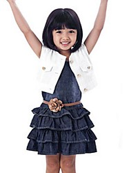 Girl's Outfit Coat with Dress Belt Clothing Sets