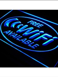 i571 Free Wi-Fi Internet Access Cafe Neon Light Sign