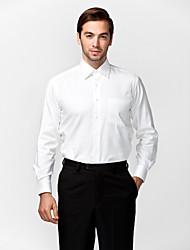 белый 100% хлопок твердых рубашка