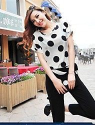 Women's New  Polka Dot Chiffon Blouse Top