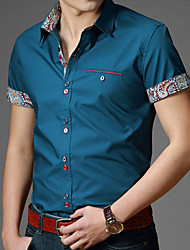 Men's Casual Shirts , Cotton DKZR