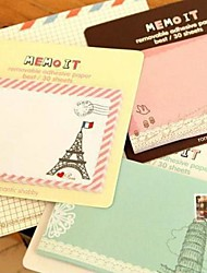 Vintage Pattern Self-Stick Note(Random Color)