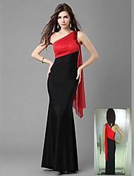 Patchwork un polyester d'épaule élégants costumes de fête des femmes