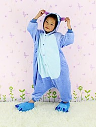 NEWCOSPLAY Azul Ponto flanela versão WC Crianças Kigurumi Pajama