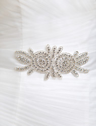 Satin Wedding/Party/ Evening/The Runway Sash - Crystal Women's Sashes