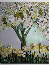 Hand Painted Oil Painting Trees in the Spring with Stretched Frame