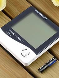 C / F Temperatur Luftfeuchtigkeit Zeit Thermo-Feuchtigkeitsmesser für Home und Office