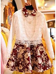 Vestido de baile de lapela Organza emenda Vestido das mulheres
