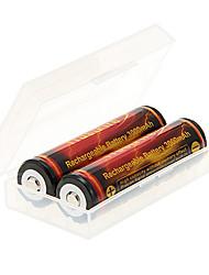 TrustFire 3000mAh батареи 18650 (2шт) с Перегрузка защиты + 2pcs/Lot жесткого пластика батареи ящик для хранения