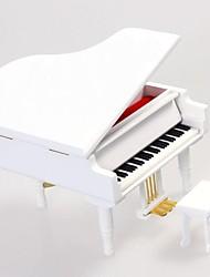 LIWUYOU™ White Wood Piano City Of Sky Music Box
