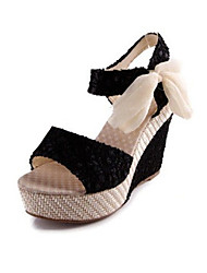 Nicy Women's Lace Roman Wedge Heel Scandals