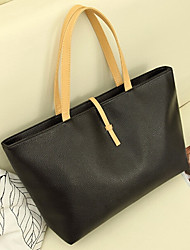 Nouveau style simple PU Leather Tote de Wangyu femmes