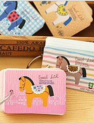 Ring Type Pony Little Creative Notepad(Random Color)