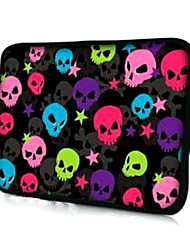 "Multicolor Skulls Pattern Laptop Sleeve Case for 15.4"" MacBook Pro/Pro with Retina Display"