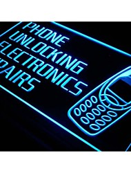 i216 Phone Unlocking Repairs Shop Neon Light Sign