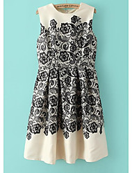 AMC Women's Lace Floral Print Sheath Dress
