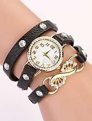 C&D Fashion 2014 Women Vintage Leather Bracelet Crystal Rhinestone Watches XK-163
