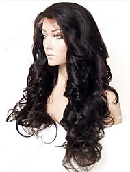 20Inch Beautiful Loose Wave 100% Indian Human Hair Glueless Front Lace Wig with Baby Hair
