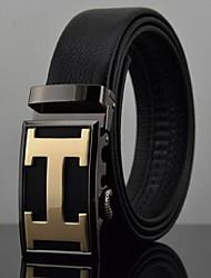 Men's Fashion Leisure Automatic Buckle Leather Belt
