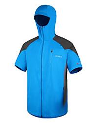 AMADIS azul de manga corta de poliéster anti-UV Pesca Jacket