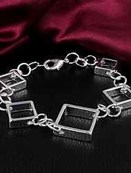 MISS U 925 versilbert Platz Armband
