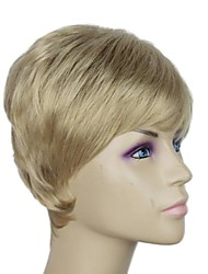 Capless Golden Blonde Short Straight Synthetic  Wigs