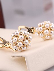 Exquisite Jewelry  Gold  Plated  Pearl Ball  Ear Clip  for Women