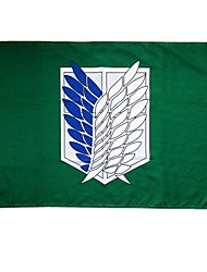 Cosplay Accessories Inspired by Attack on Titan Cosplay Anime Cosplay Accessories Flag Green Terylene Male / Female