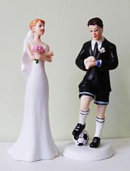 gâteau toppers marié de football& mariée exaspérée de gâteau