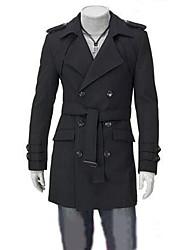 Fashion doppio petto cappotto di lana con cappuccio Jessy uomo
