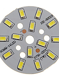 7W 600-650lm Cool White luz 5730SMD módulo de LED integrado (21-24V)