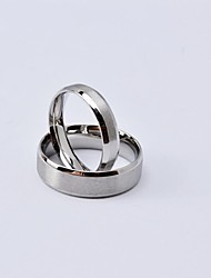 Classic Silver Brush Titanium Steel Couple Rings Promis rings for couples