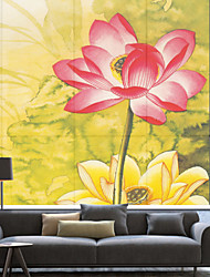 Country pittura a inchiostro Style Blooming Lotus Roller Ombra
