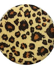 Circular Leopard Print Make-up For You Dry Powder Puff