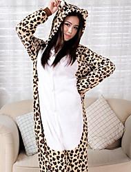 Leopardo africano Fierce franela adultos Kigurumi pijama