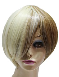 Capless Synthetic Short Straight Two Color Synthetic Wigs
