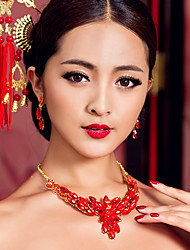 elegantes collares rojos chinos para las bodas