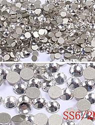 1440PCS demi rond plat Base de strass Décorations Nail Art (2mm)