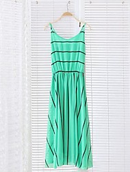 Women's Sexy Dress Maxi Sleeveless Blue / White / Black / Green Summer
