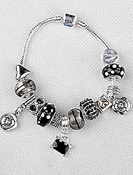 Bracelet à breloques Black Star Perle Strand