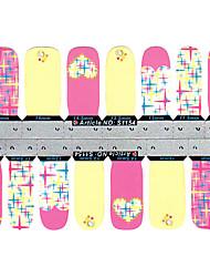 28PCS glinsteren Star Design Nail Art Stickers