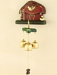Natural Solid Wood Hand-made Copper Windbell