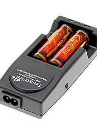 Trustfire 3000mAh 18650 (2 Stück) w / Überladeschutz + Trustfire TR-001 Battery Charger + Battery Storage Box