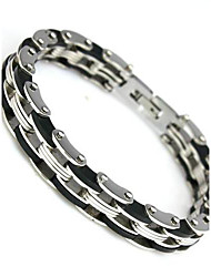 Stainless Steel Bracelet and Bangle 210mm Men's Jewelry Strand Rope Charm Chain Wristband Men's Bracelet Christmas Gifts
